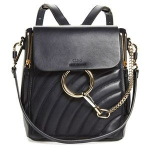New Small Chloé Faye Quilted Leather Backpack